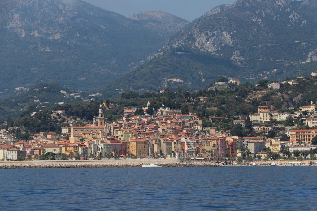 The town of Menton is on the French side of the border