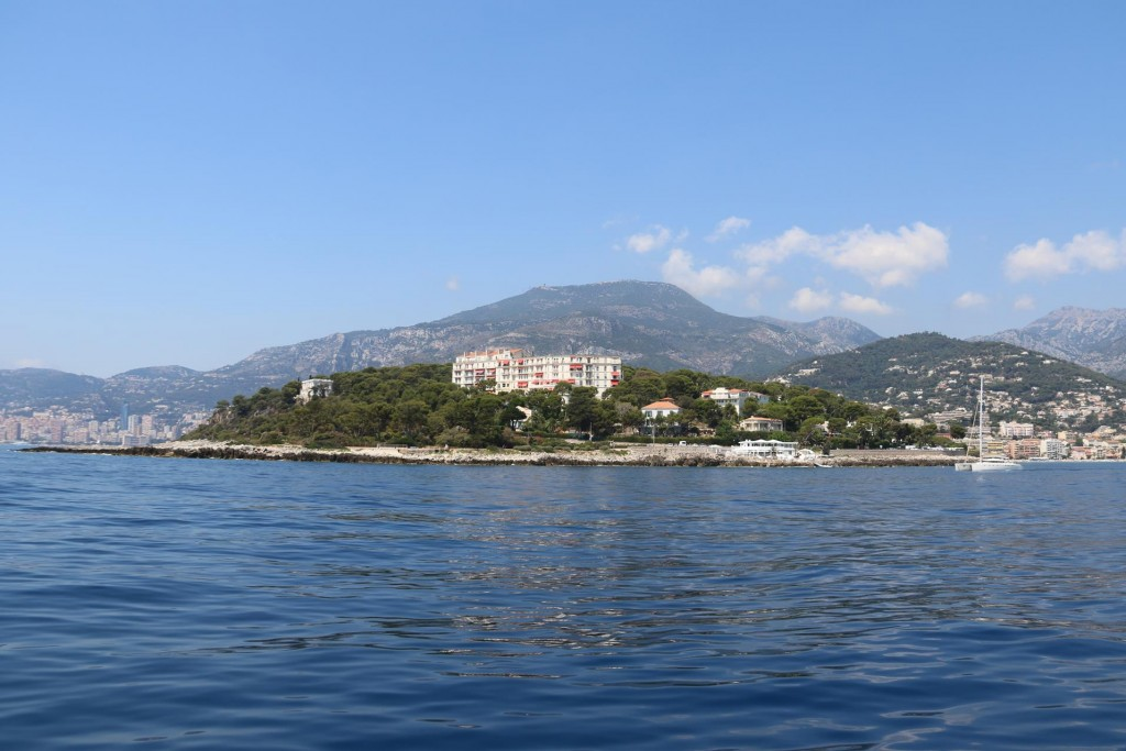 Cap Martin, the cape and the Cap Martin Hotel which in it's heyday was a very exclusive hotel