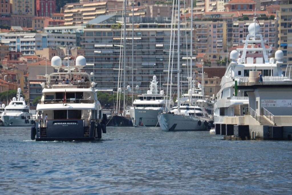 The yacht lined harbour of Monaco accommodates some of the largest, luxurious super yachts in the world