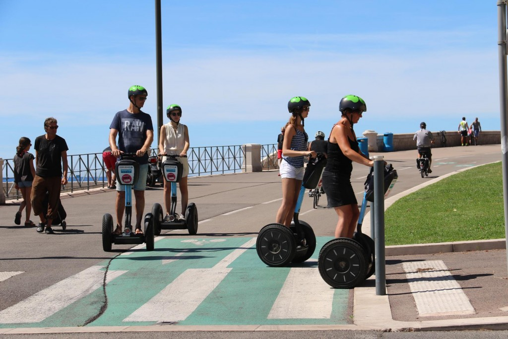 Segways are also a popular form of seeing the sights of Nice