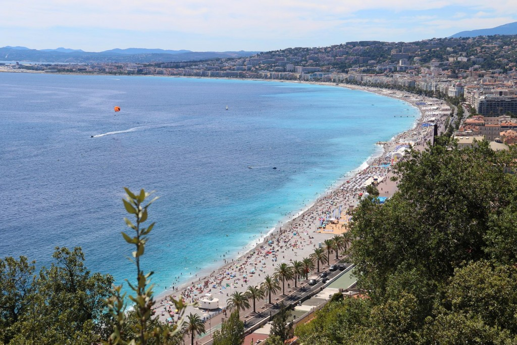 Although there was very little left of the castle, the view over Nice and the Baie des Anges was quite spectacular through the overgrown trees
