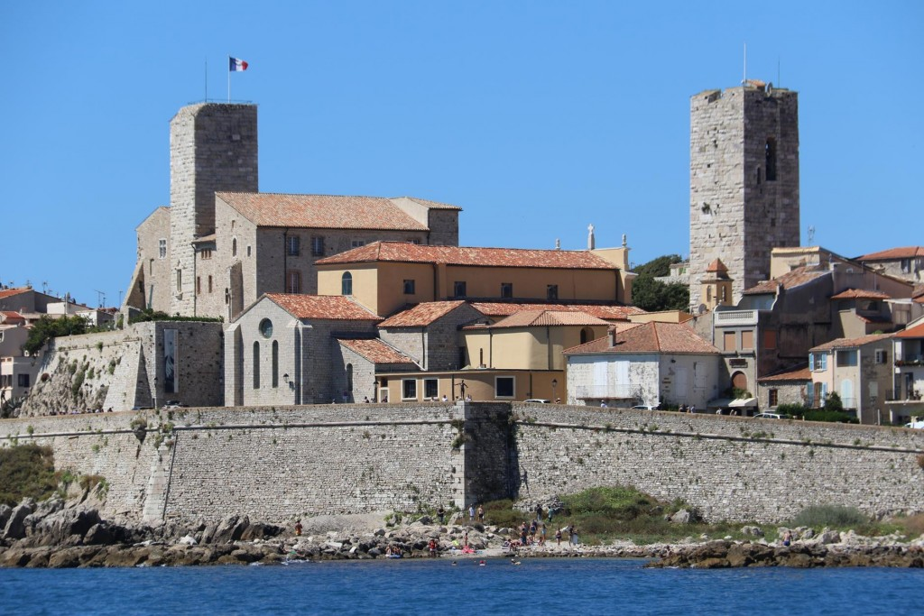 Approaching the walled town of Antibes