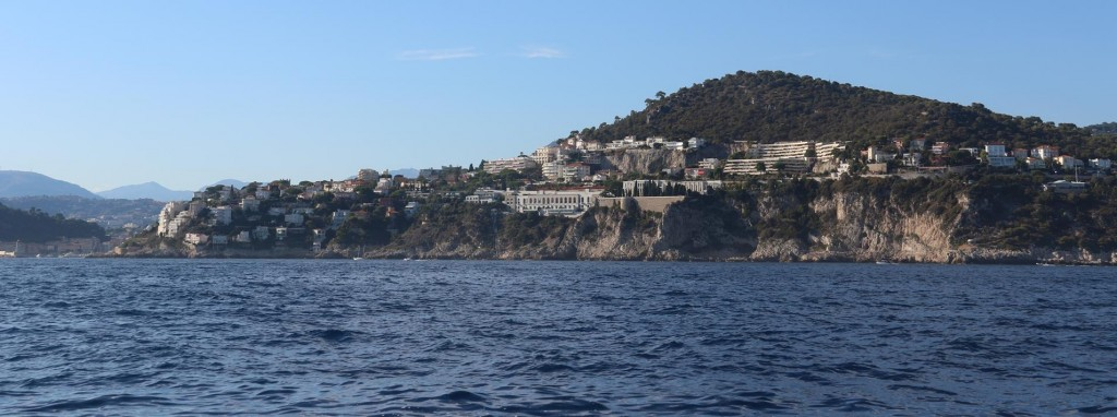We make our way just east of Nice to the sheltered harbour of Villefranche