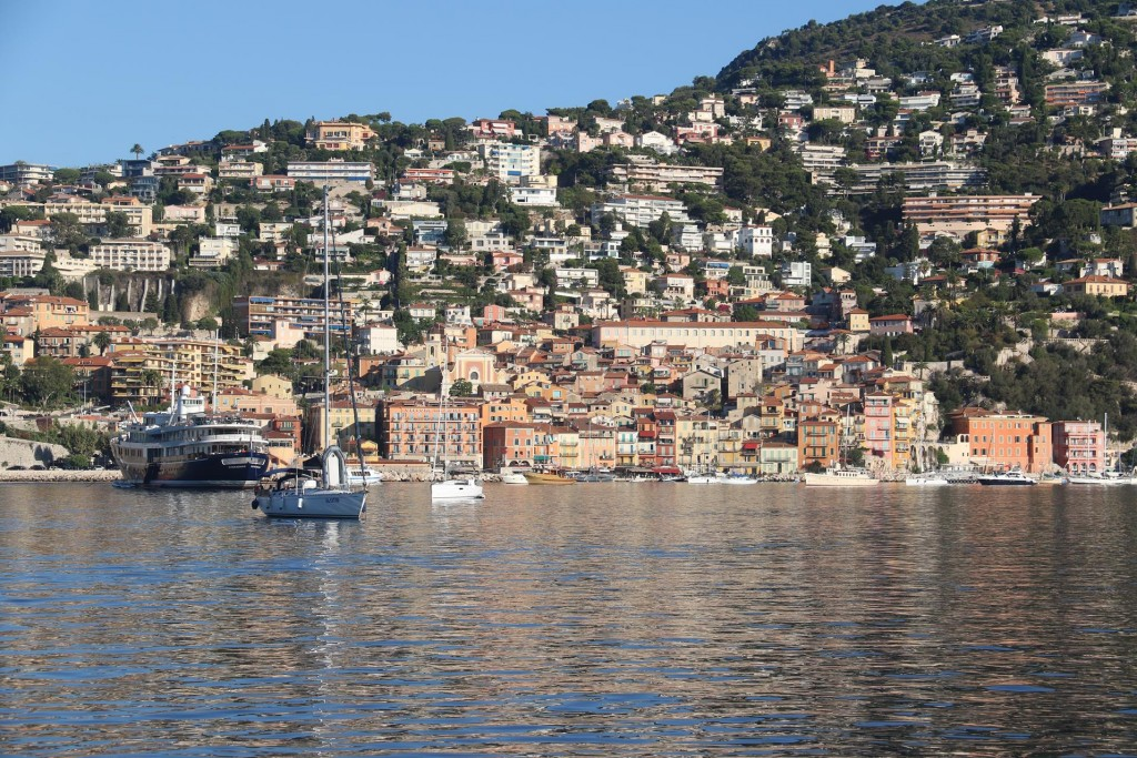 The lovely old part of the town of Villefranche situated in the north west of the large bay