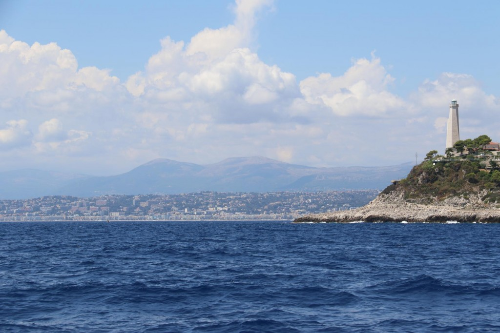 In the distance is the Baie des Anglais and town of Nice