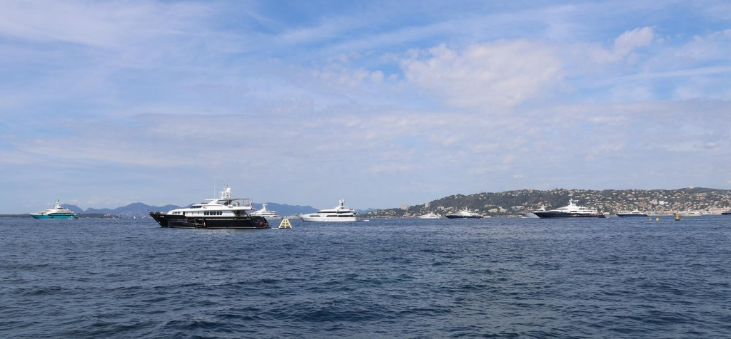 Looking across the bay towards Cannes