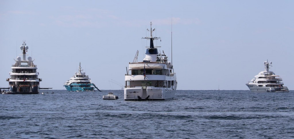 Being in southern France in August is when a lot of the big boats come out with their owners and guests