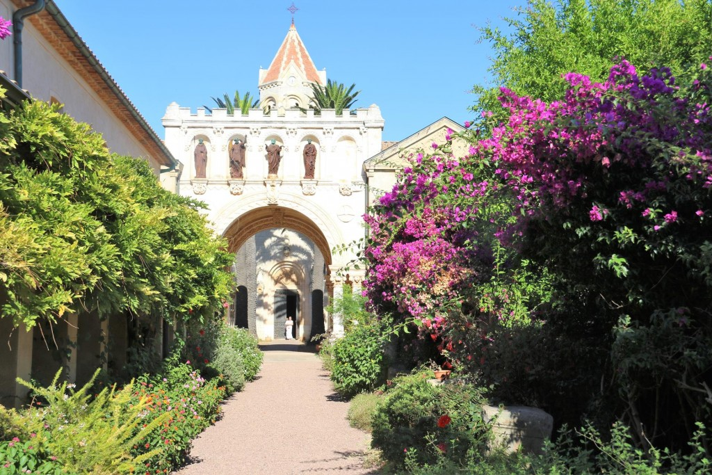 The beautiful gardens of the Abbey of St Honorat