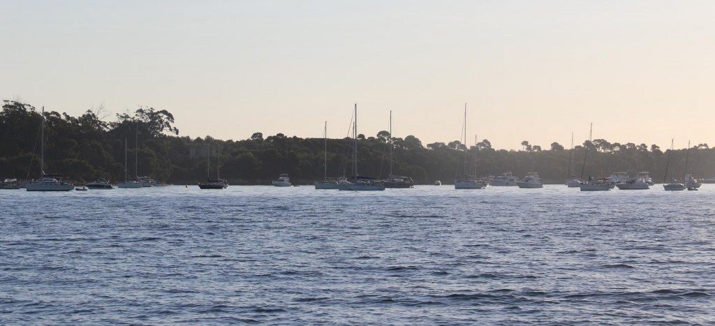 Today we leave the busy anchorage between Ile Ste Marguerite and Ile Honorat