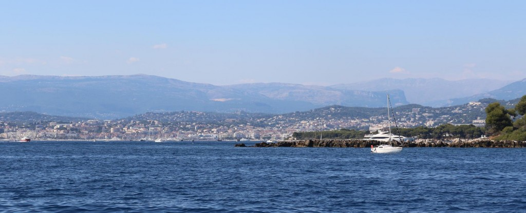 Looking north towards Cannes