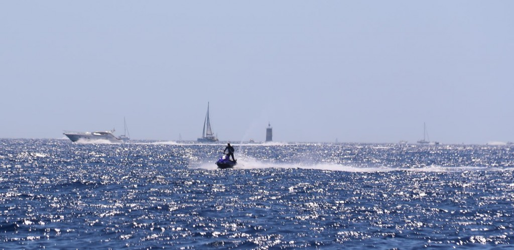 You have to keep a close watch all around because of so much water traffic near St Tropez