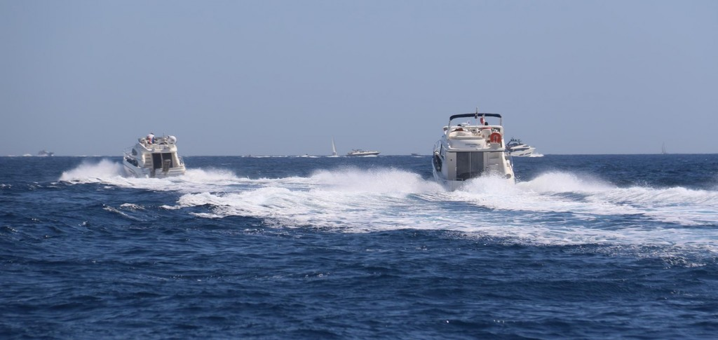 The French boat owners are nearly as fast as the Italians!!