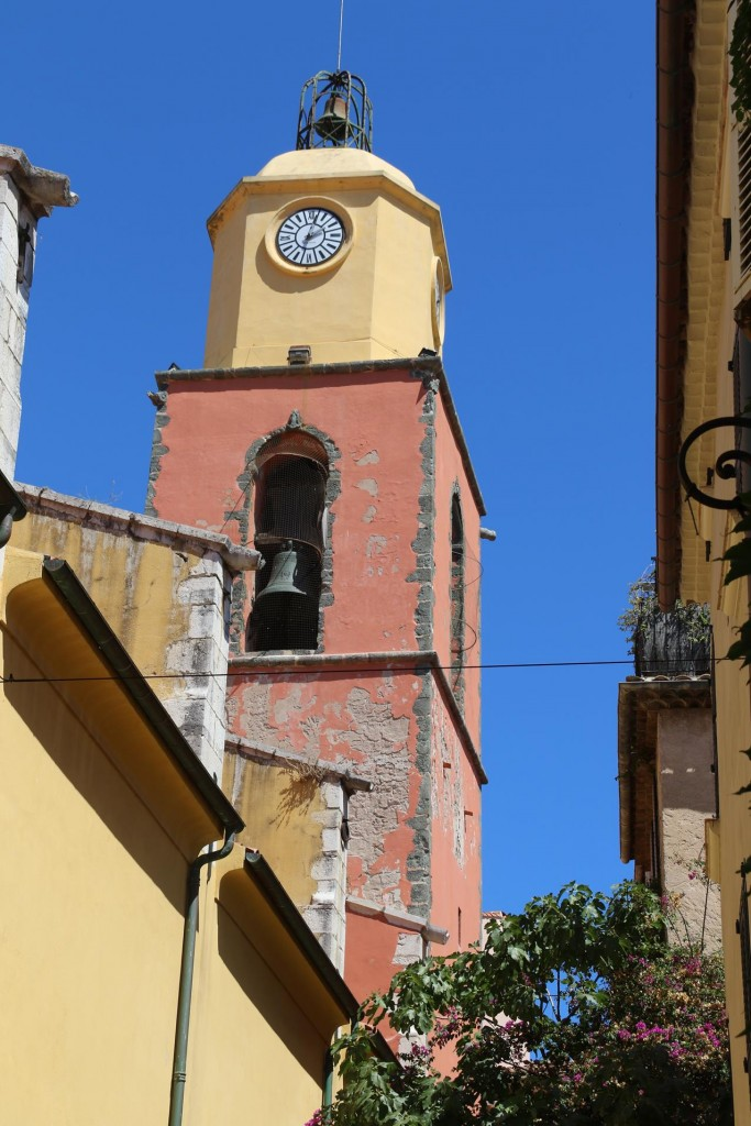 The unmistakable bell tower that stands proudly above the famous town