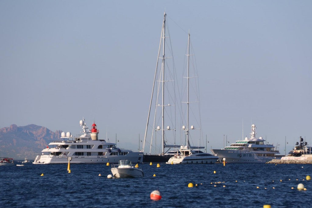 Once again the super yachts start their usual parade of queuing up to enter the port