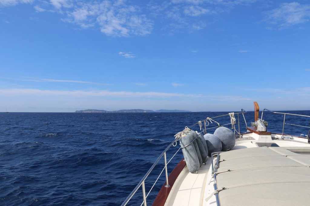 Heading south west to the Iles d'Hyeres which consist of 4 small islands just off the coast half way between St Tropez and Toulon
