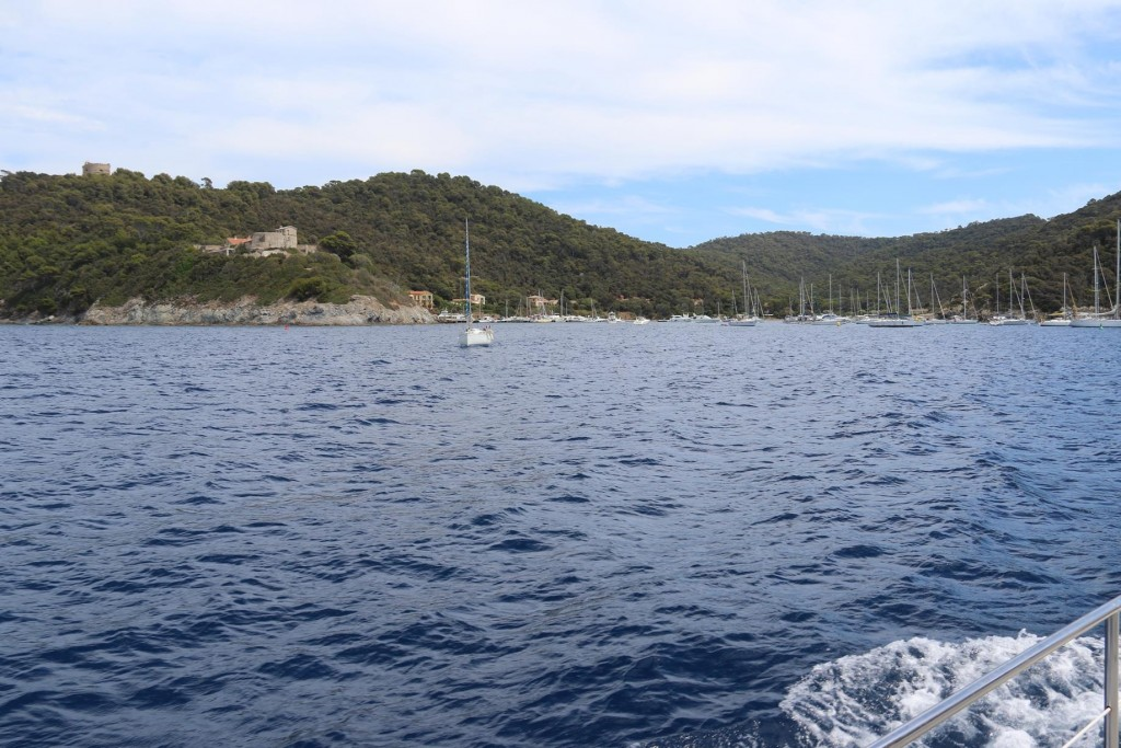We approach Port Cros on the north west of the island