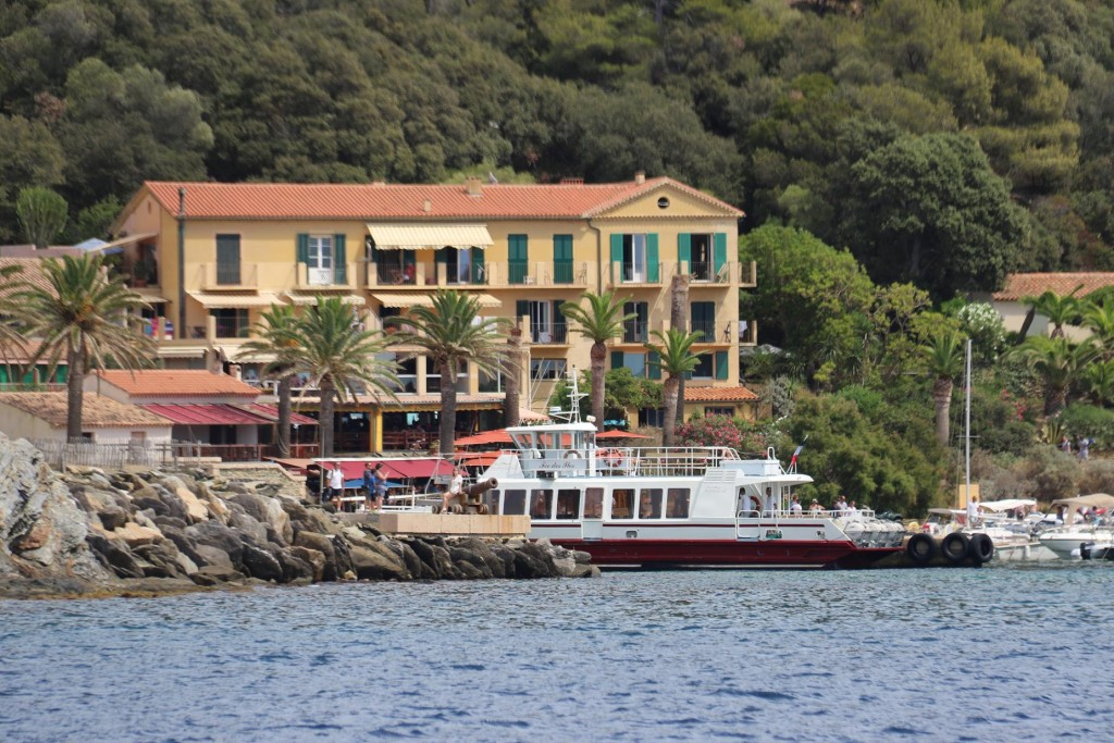 There is limited accommodation here and the port has a regular ferry bring visitors