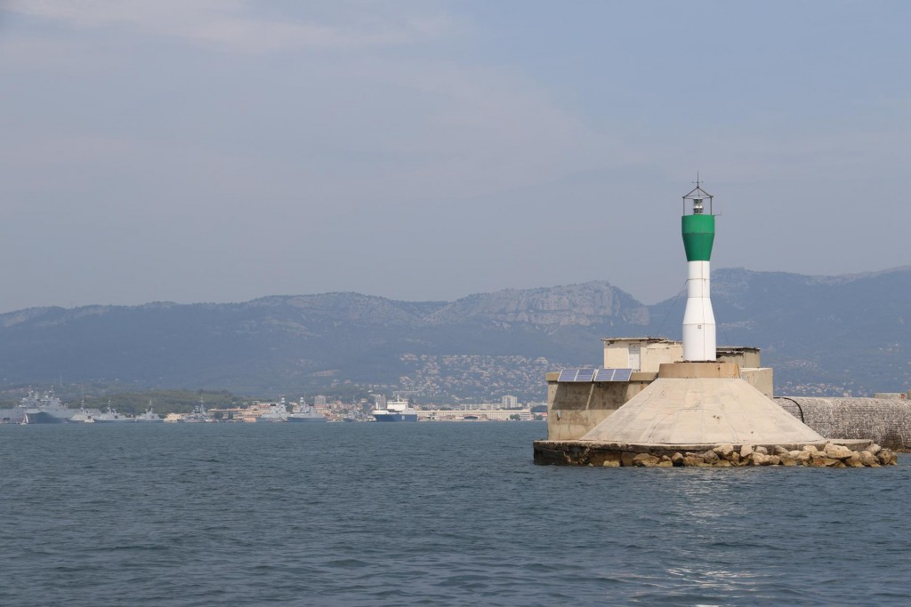 Approaching the harbour of Toulon which is the 2nd largest naval base in France