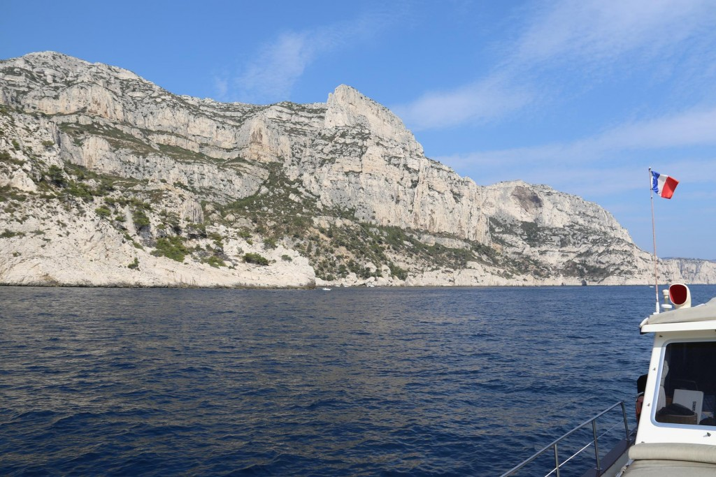Calanque de Morgiou is a much larger and wider calanque than the others we had entered