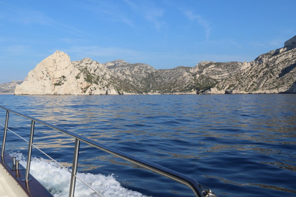 Approaching Calanque de Sormiou one of the larger calanques along this coast as we continue west