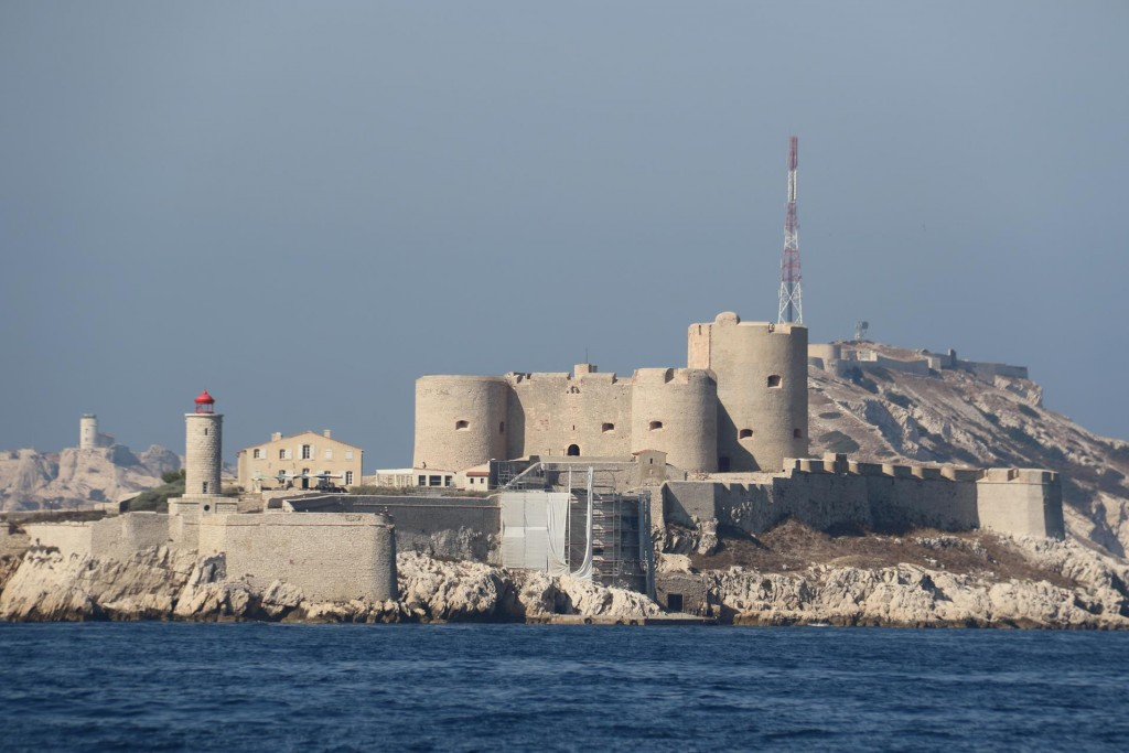 Ile d'If  has a fortified medieval chateau which was used as  a prison for many centuries
