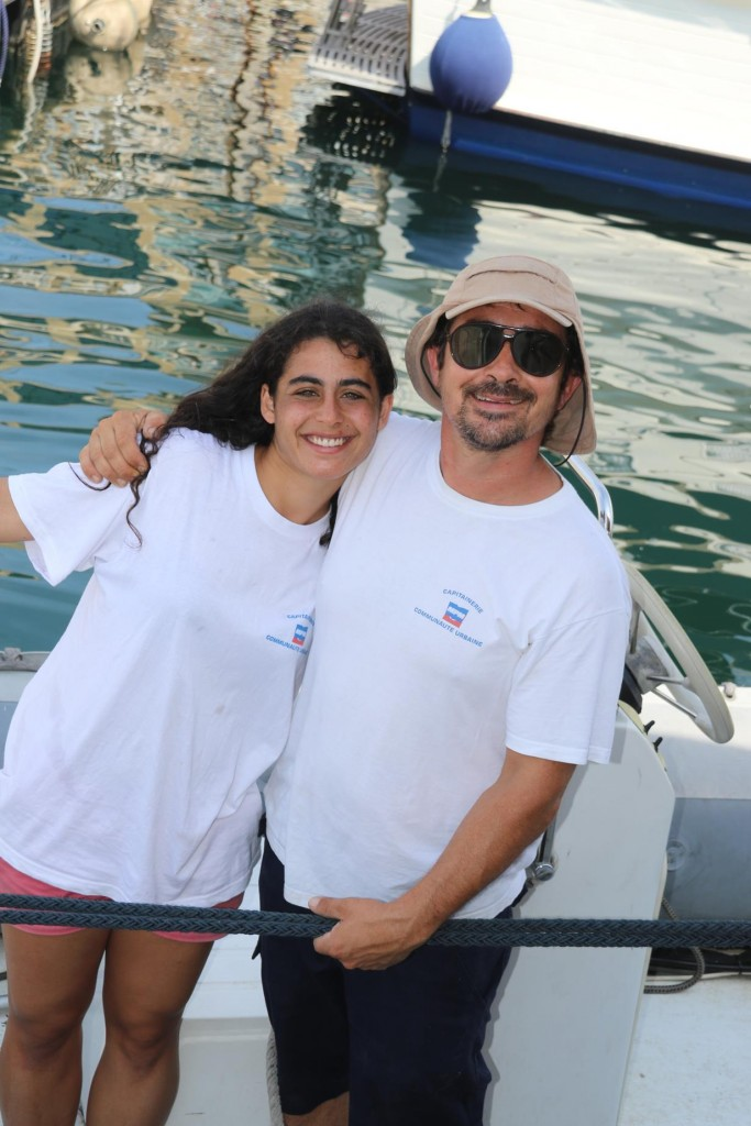 Oliver and Sarah, the friendly mooring staff from Vieux port