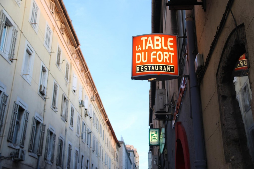 We finally arrive at La Table Du Fort Restaurant in a small side street on the opposite side of the port from our berth