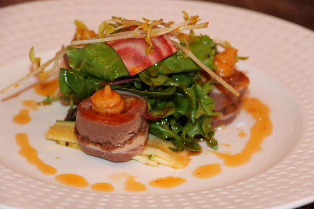 Tasty tuna with salad