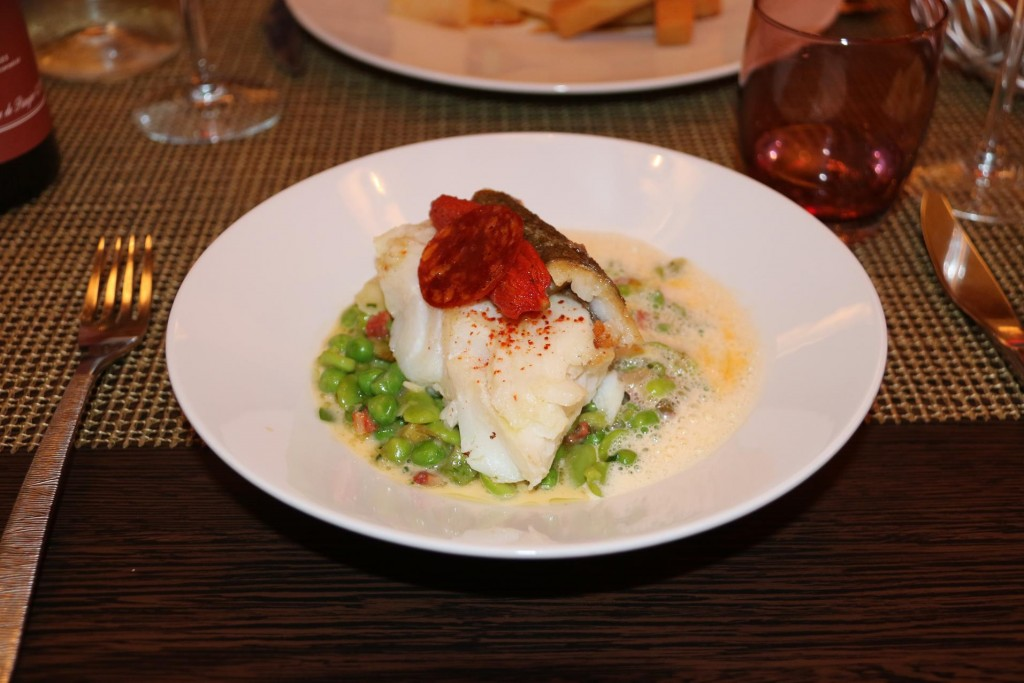 Fabulous fish with broad beans