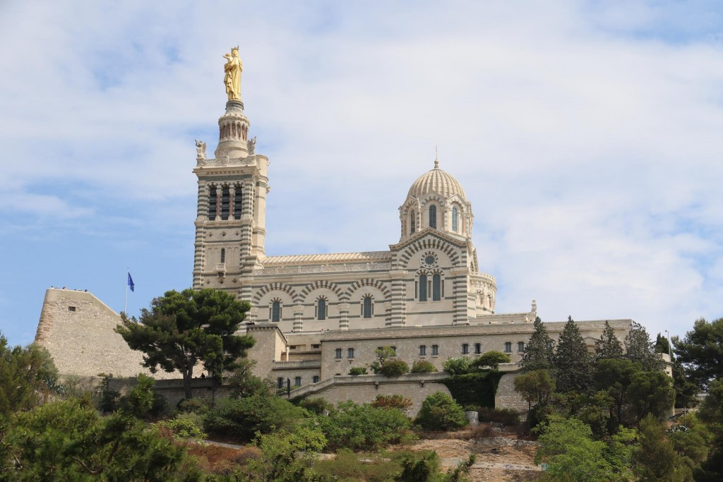 The Notre Damed de la Garde Basilica which overlooks Marseille