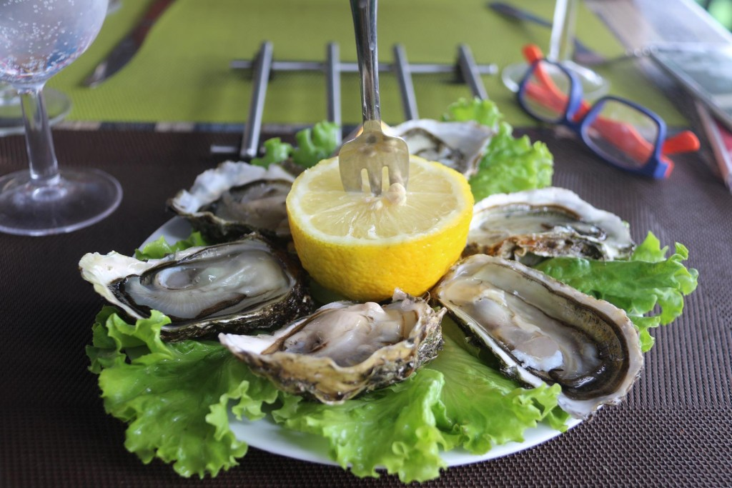 Fabulous fresh French oysters
