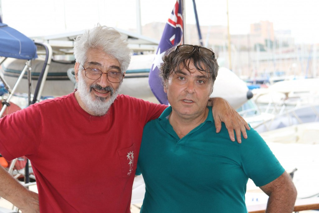 Ed and Antoine assisted with the service done on the Tangaroa's motors while in the port