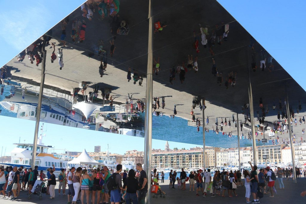 The controversial  mirrored shade structure was completed in early 2013