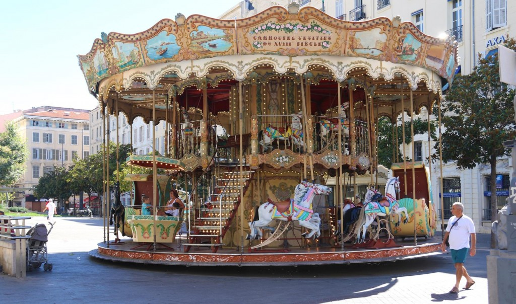 A two storey merry-go-round