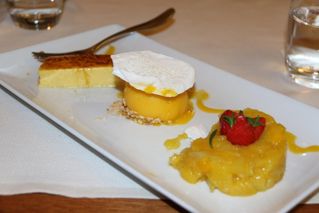A wonderful light and refreshing dessert with mango