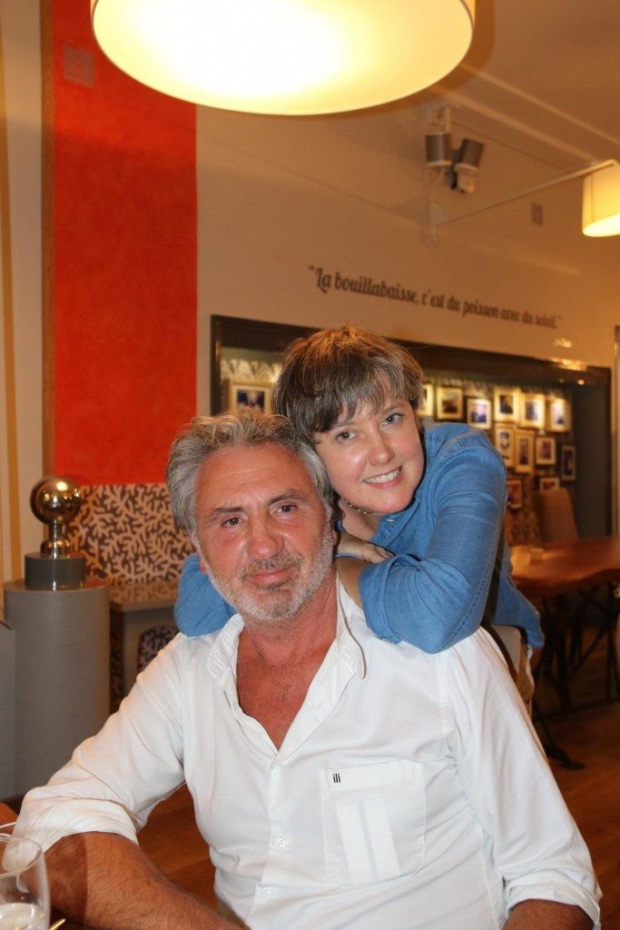 A very friendly Italian couple, Alessandro and Francoise sitting beside us in the restaurant