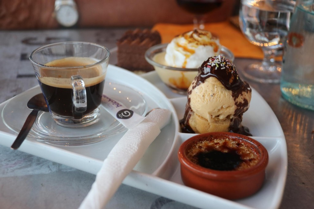 A generous coffee inspired dessert for us to share before returning to the Tangaroa