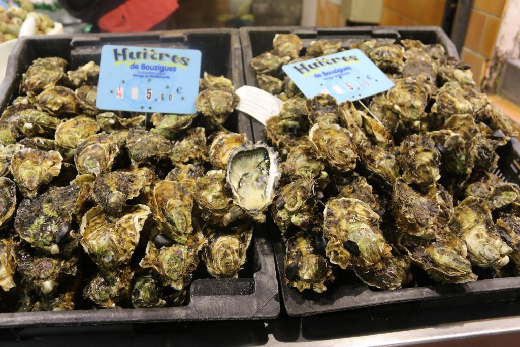 Fabulous French oysters can be found in most seaside markets