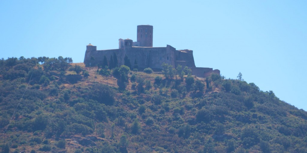 In the distrance perched high on a hill overlooking Collioure is a quite substantial fort