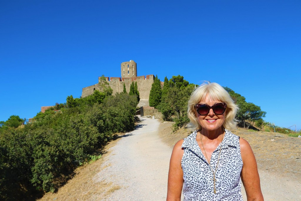 We stop for photos at Fort Saint-Elme on top of of the hill behind Collioure