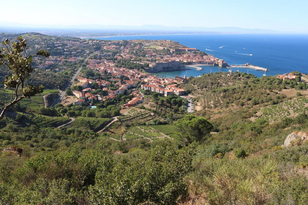 As we head back to Collioure the view down the hills to the town were absolutely spectacular