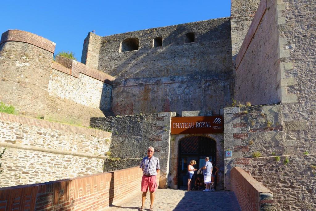 We visit the Royal Castle, Château Royal de Collioure