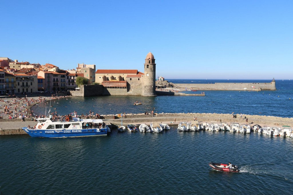 Great views north towards the port entrance from the castle