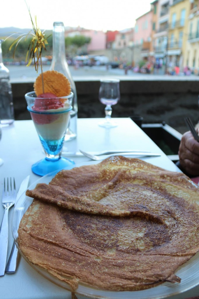 Ric could not resist the huge crepe for dessert which was served with icecream