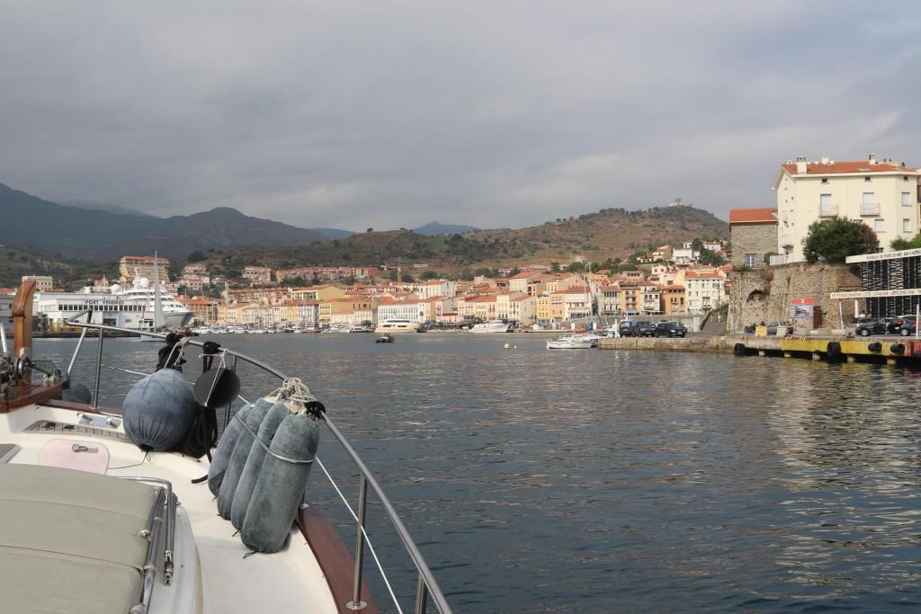 Entering Port Vendres