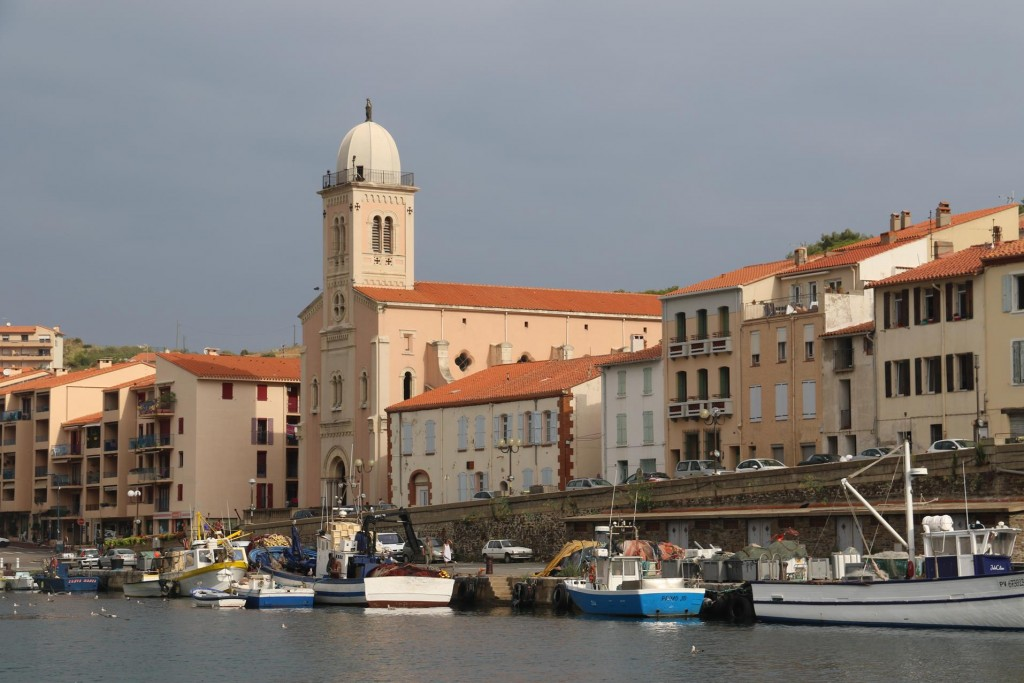 The Eglise Notre Dame des Anges church sands proudly overlooking the harbour