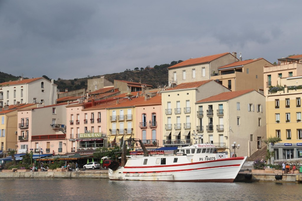 Everyday daytripper boats come and go from Port Vendres