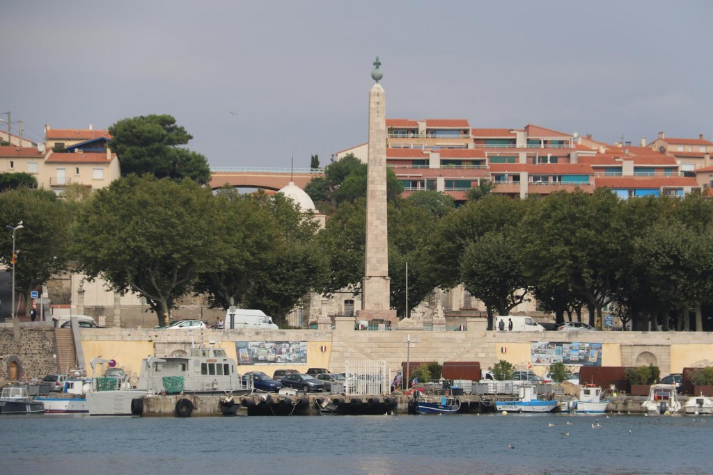 One of the major focal points of Port Vendres is the marble Obelisk which is 30 metres high and dates back to 1780