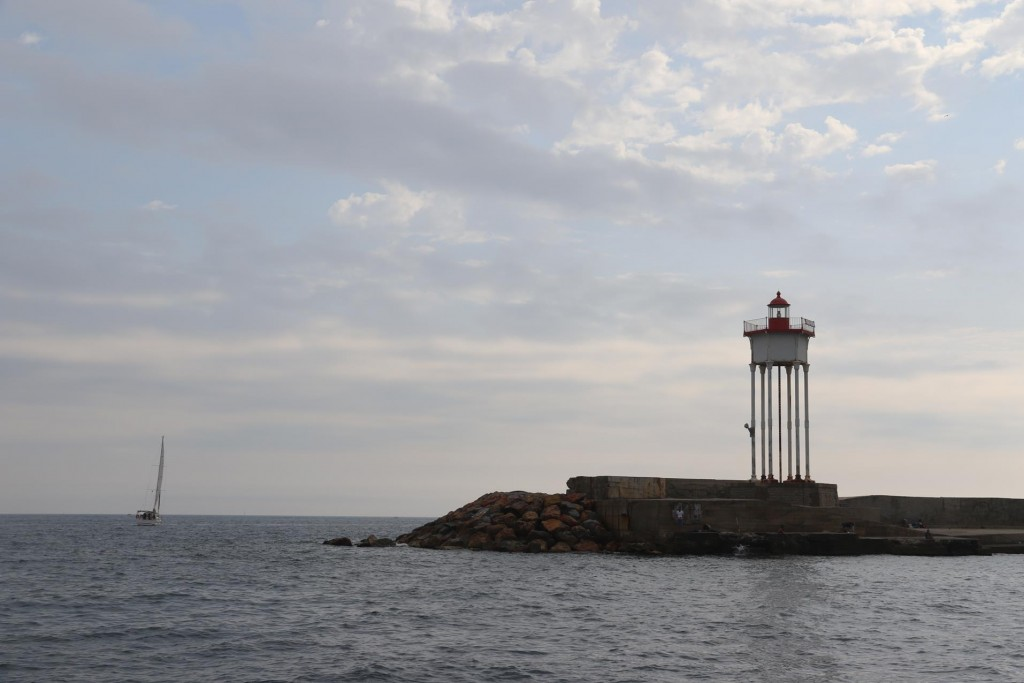 A most unusual lighthouse at the entrance to Port Vendres
