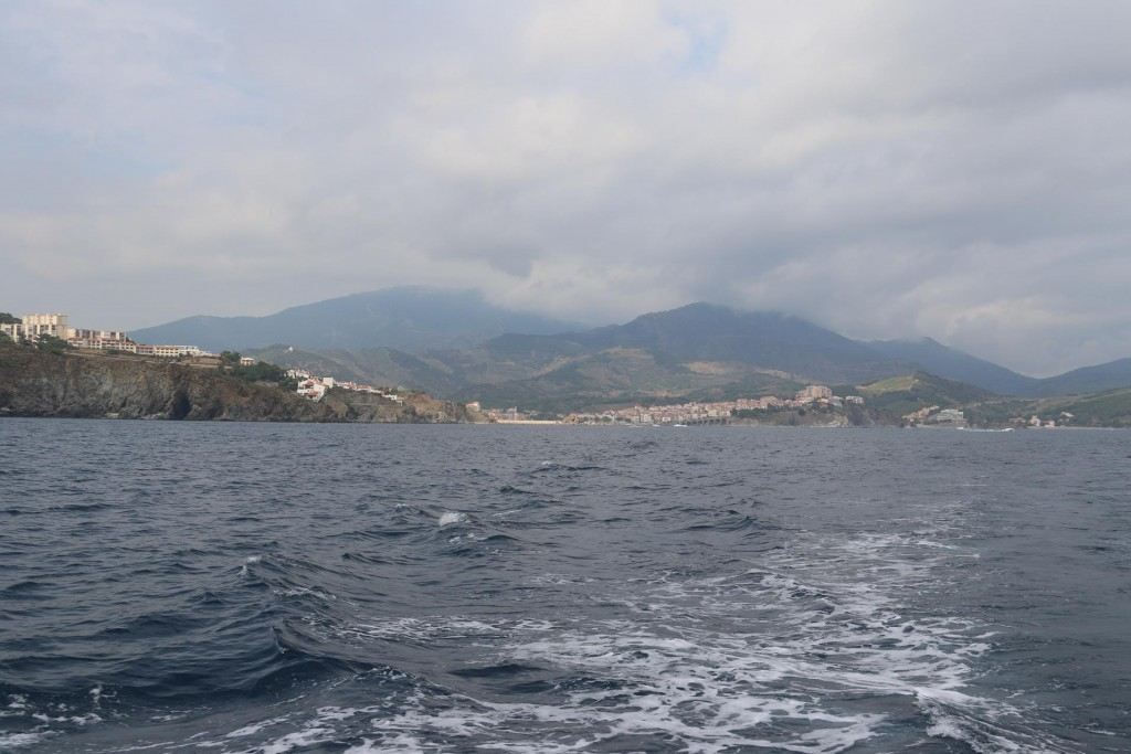 We pass the port of Banyuls-Sur-Mer